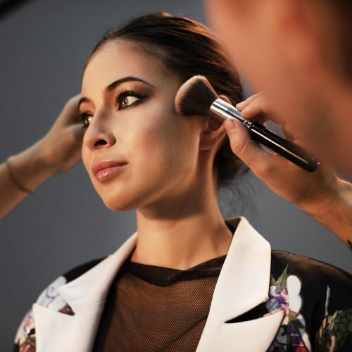 Retocando el maquillaje